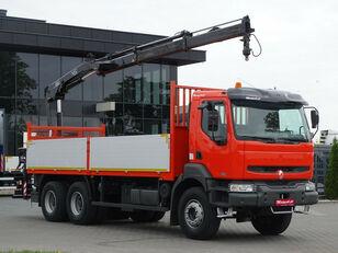 RENAULT Kerax 370 dci 6x4 Darus HIAB 144 camión caja abierta