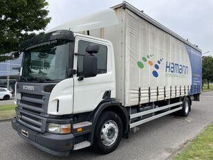 SCANIA P 230 + EURO 4 + LIFT + 8.20 METER BOX camión con lona corredera