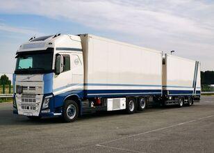 VOLVO Tandem chłodnia thermo king dopelstock 2013 schmitz camión frigorífico + remolque frigorífico
