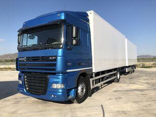 DAF XF 105.460 Y REMOLQUE KRONE camión furgón + remolque furgón
