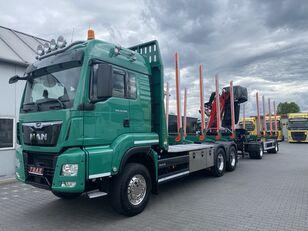 MAN TGS 33.500 camión maderero + remolque maderero