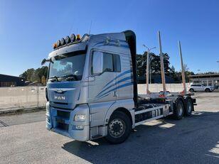 MAN TGX 26.560 6x4, E6, Retarder, Hydraulics, (Ohne Kran) camión maderero