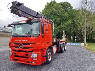 MERCEDES-BENZ Actros 3360 -6x4-hiab crane-steel suspension-alcoa camión maderero