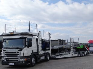 SCANIA P 410 / AUTOTRANSPORTER / ROLFO EGO 4 + ROLFO DYNAMIC 7/ RETARDE camión portacoches + remolque portacoches