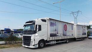 VOLVO fh 420 EURO 6 camión toldo + remolque toldo
